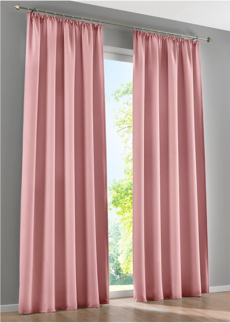 licht und sichtschutz am tag und in der nacht mit dem vorhang verdunkelung rosa. Black Bedroom Furniture Sets. Home Design Ideas