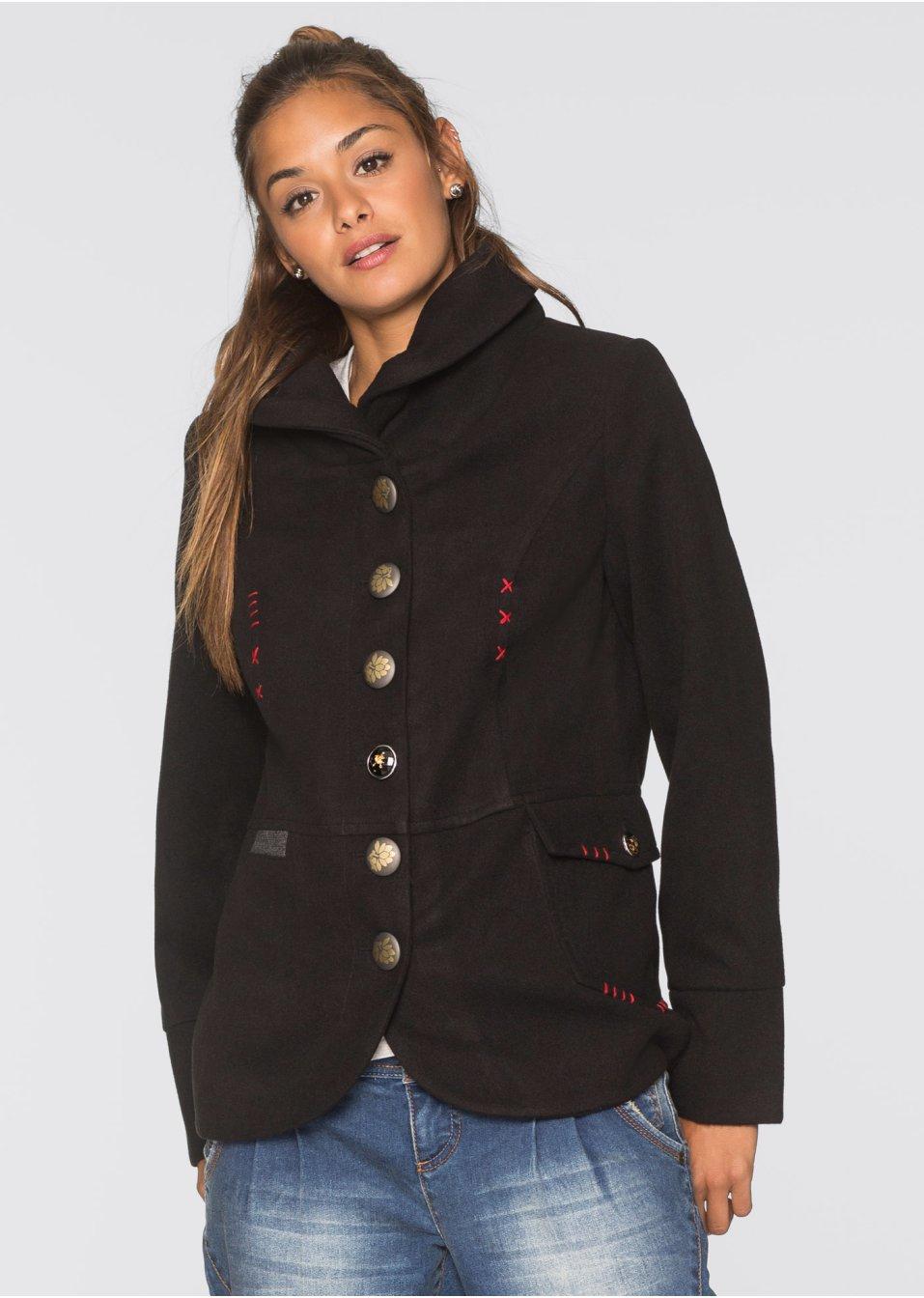 veste avec patte de boutonnage d corative rouge couchant femme rainbow. Black Bedroom Furniture Sets. Home Design Ideas