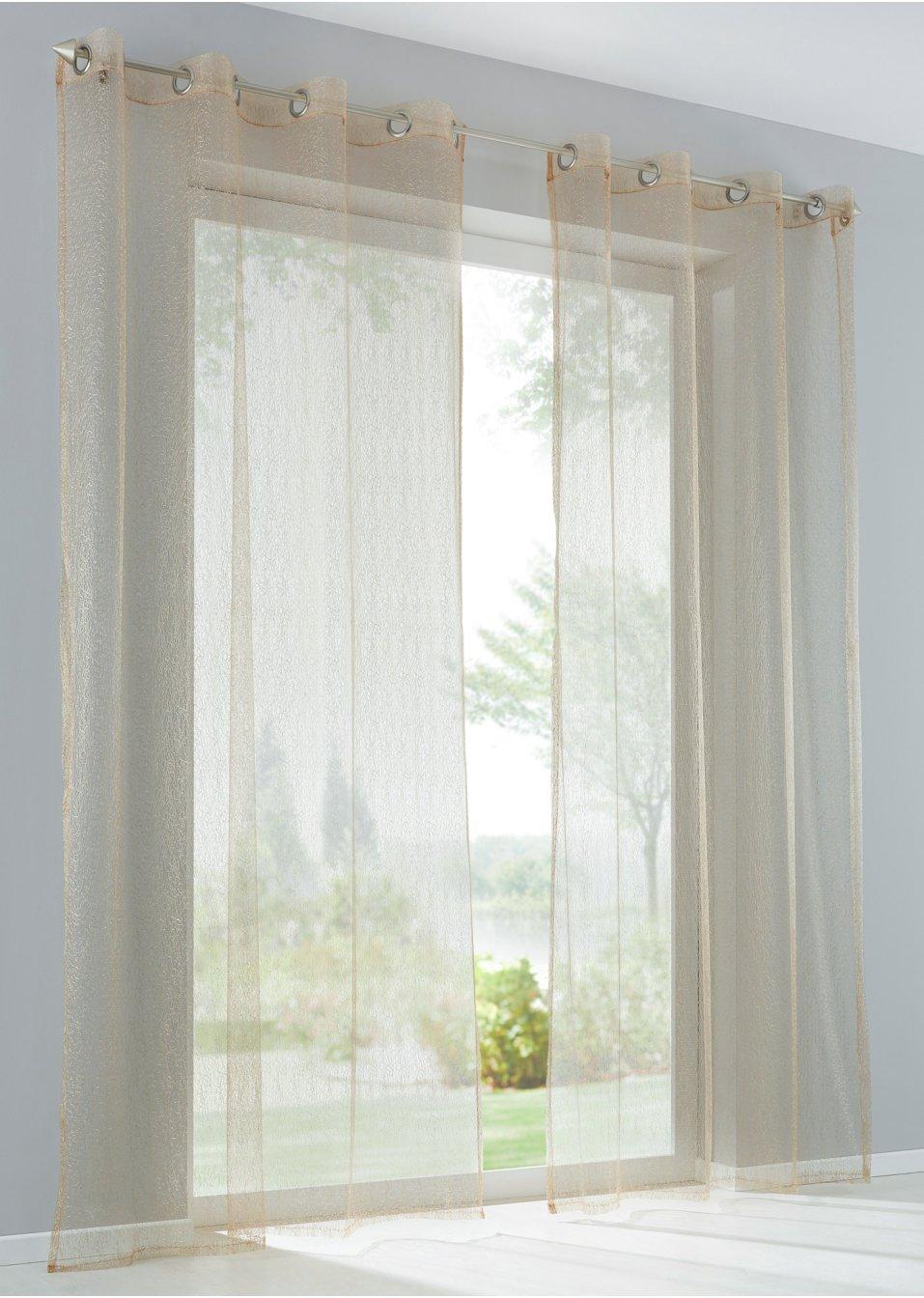 gardine luca 1er pack gold bpc living online bestellen. Black Bedroom Furniture Sets. Home Design Ideas