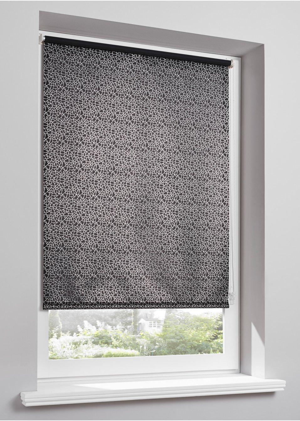 store enrouleur brise vue marcel 1 pce noir bpc living. Black Bedroom Furniture Sets. Home Design Ideas