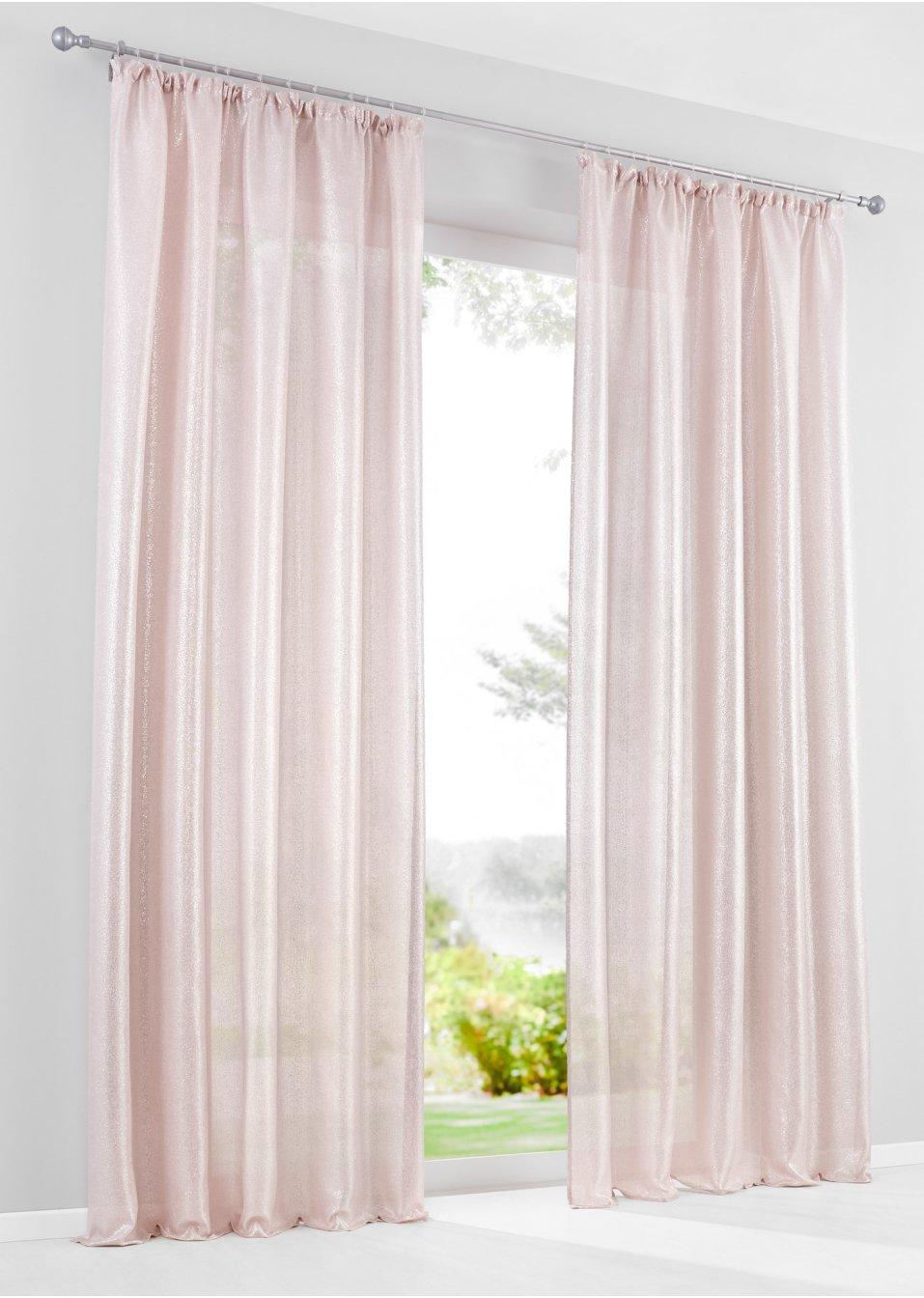 Vorhang samara 1er pack rosa bpc living - Bonprix vorhang ...