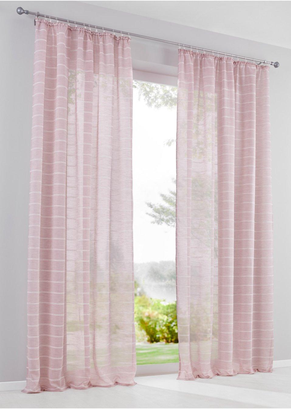 Vorhang sarene 1er pack rosa bpc living online - Bonprix vorhang ...