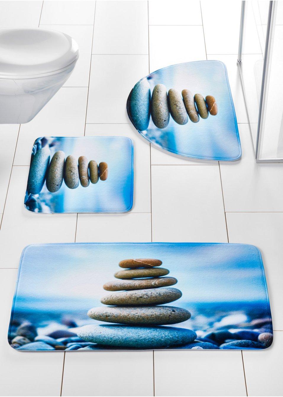 wellnessfaktor badematte steine mit memory schaum blau. Black Bedroom Furniture Sets. Home Design Ideas