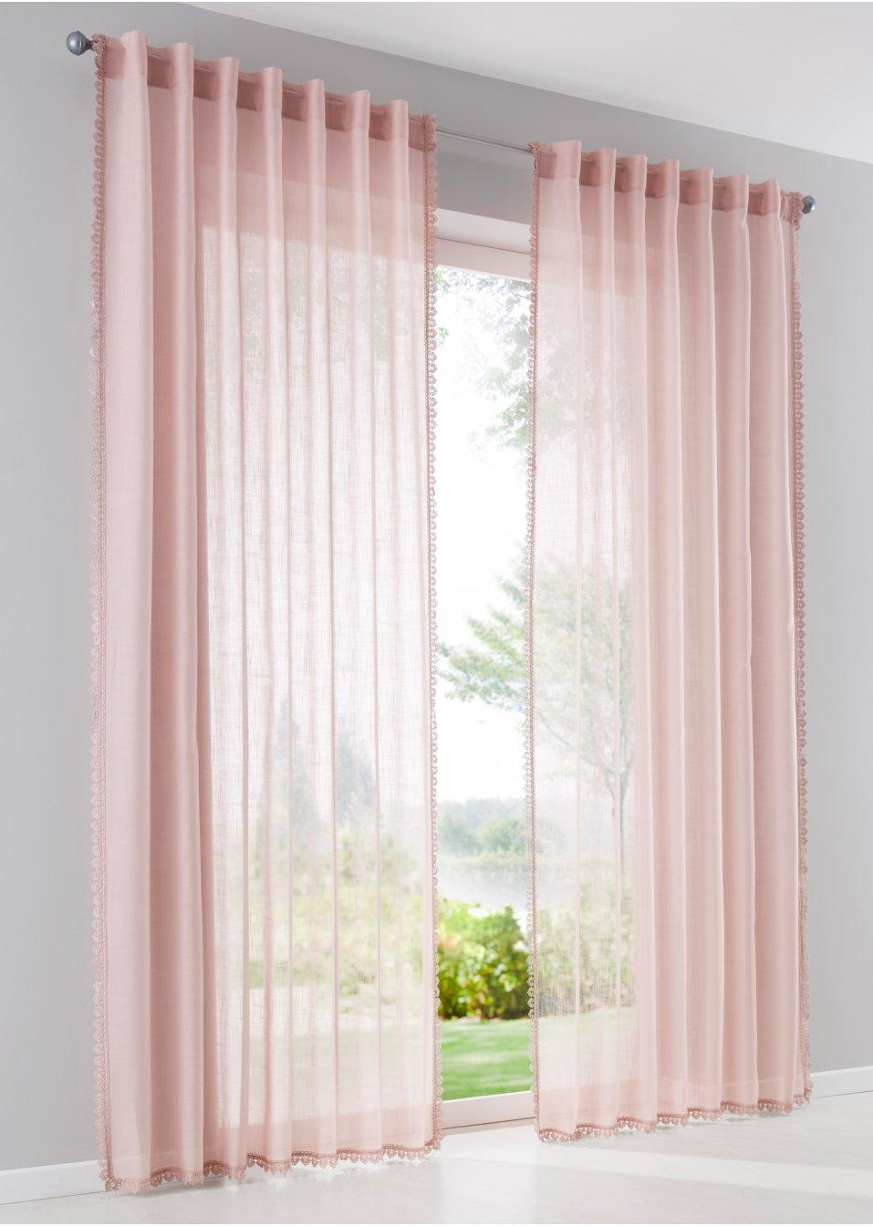 Vorhang diana 1er pack rosa bpc living - Bonprix vorhang ...