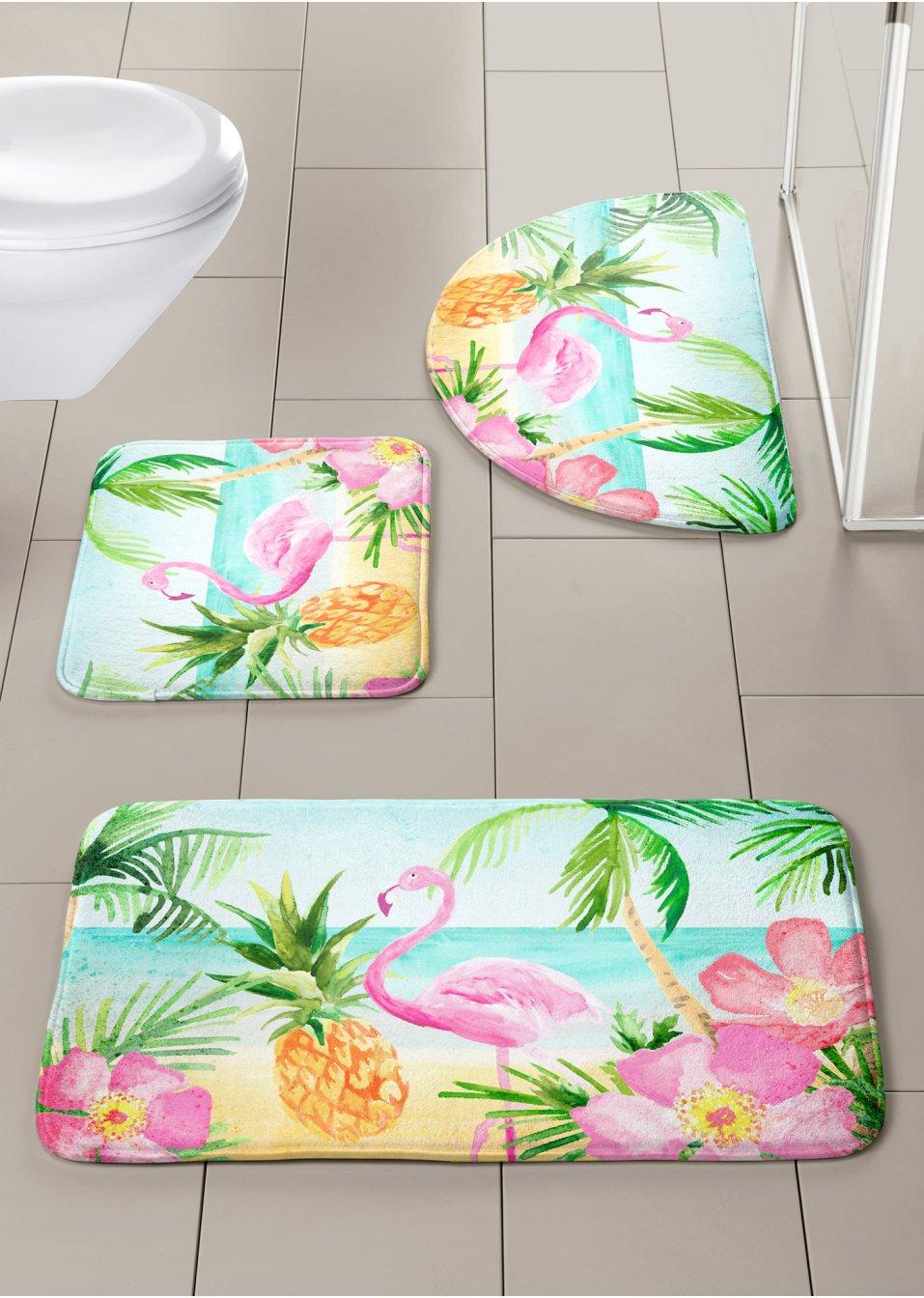 f r einen exotischen akzent die badematte flamingo mit. Black Bedroom Furniture Sets. Home Design Ideas