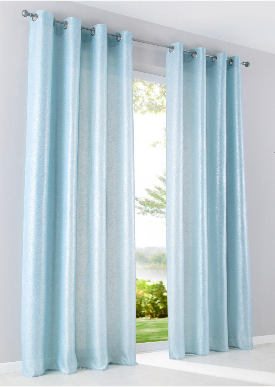 Vorhang samara 1er pack hellblau bpc living online - Bonprix vorhang ...