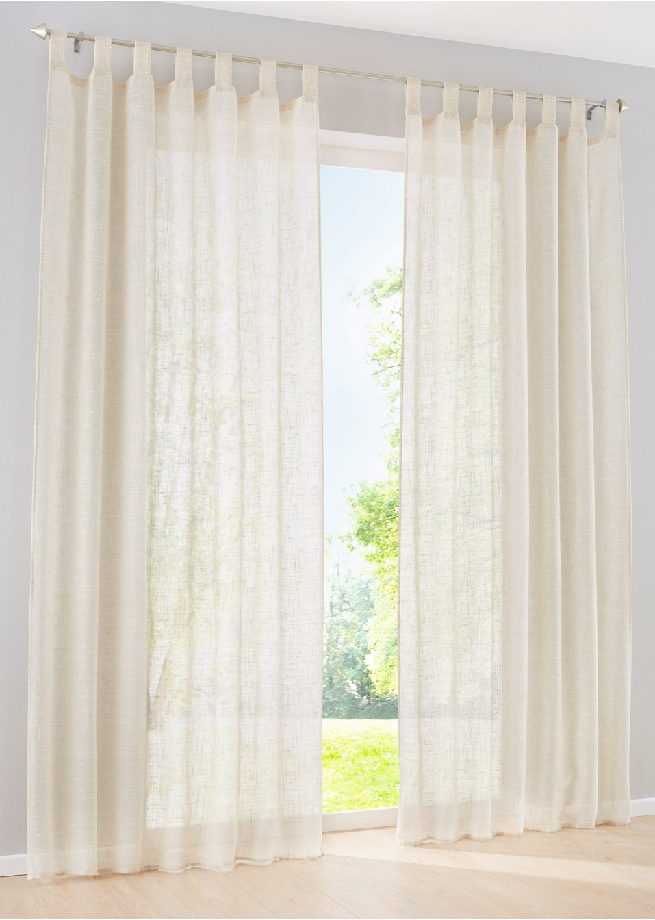 gardine leinen optik 1er pack natur bpc living online bestellen. Black Bedroom Furniture Sets. Home Design Ideas