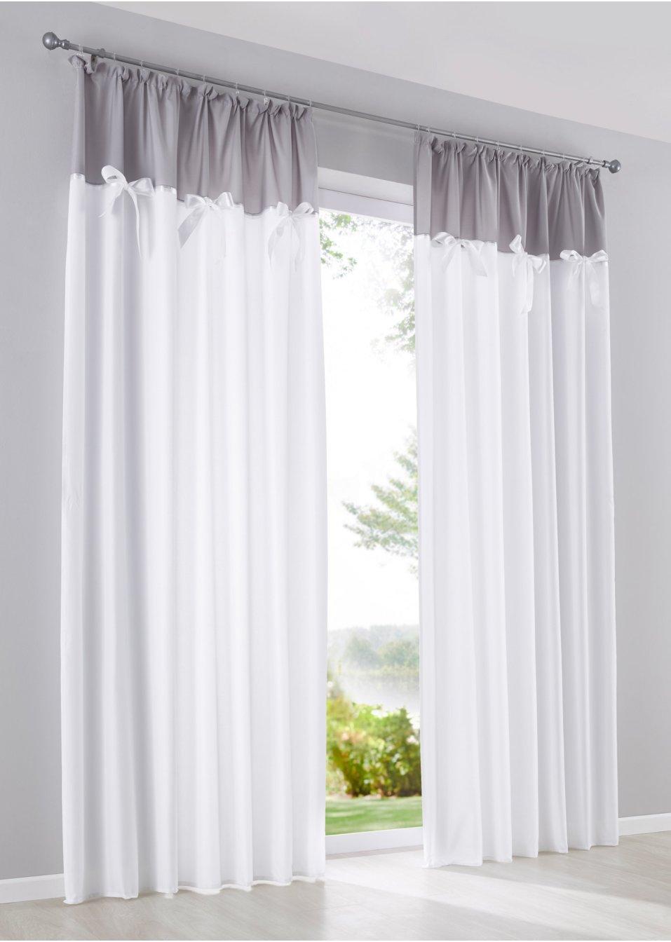Vorhang lena 1er pack weiss grau wohnen - Bonprix vorhang ...