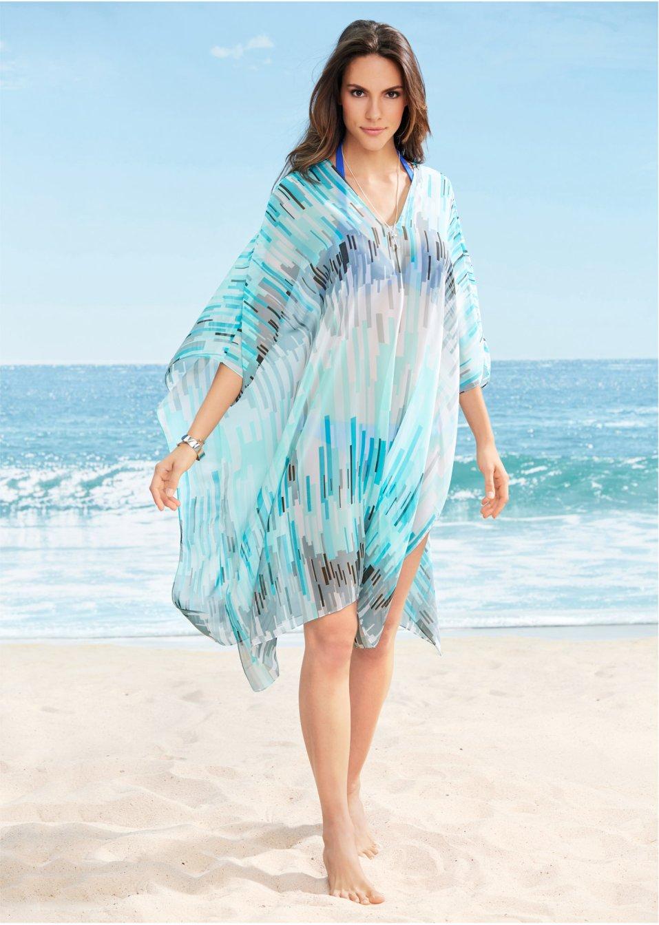 Strandkleid blau - online kaufen - bonprix.ch
