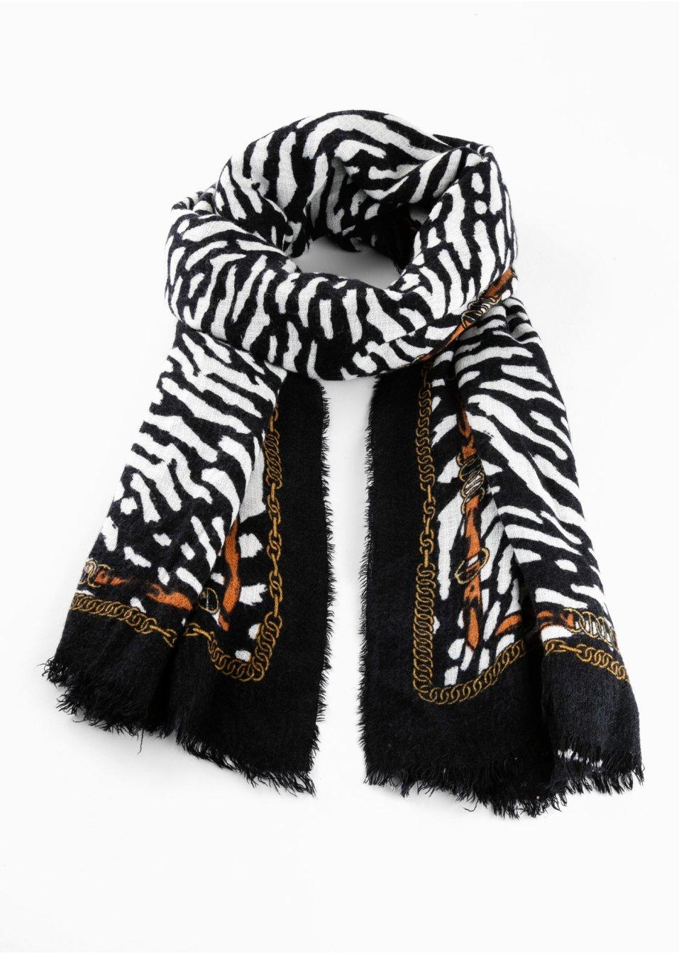 Schwarz Weiß Schal
