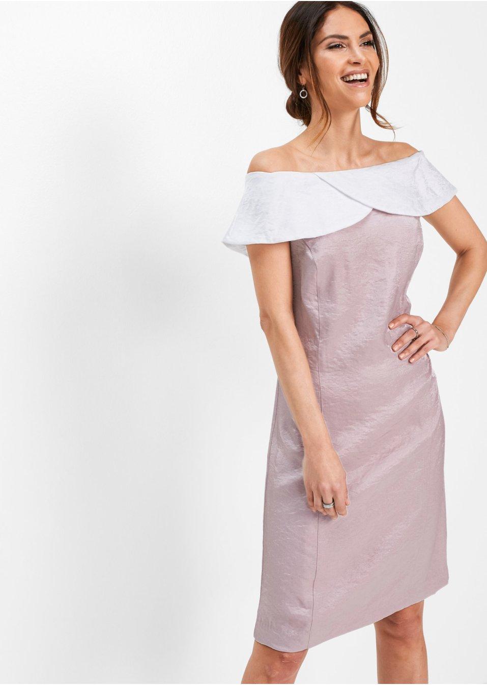 Carmen-Kleid mattrosa/weiss - bpc selection premium online ...