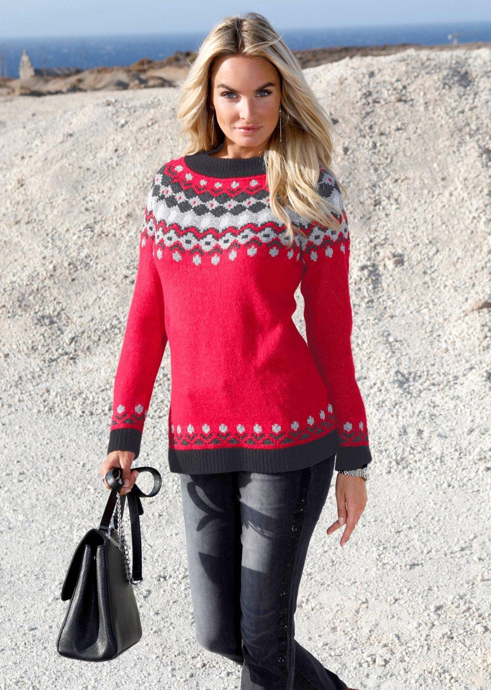 Nike Pullover Damen Rot