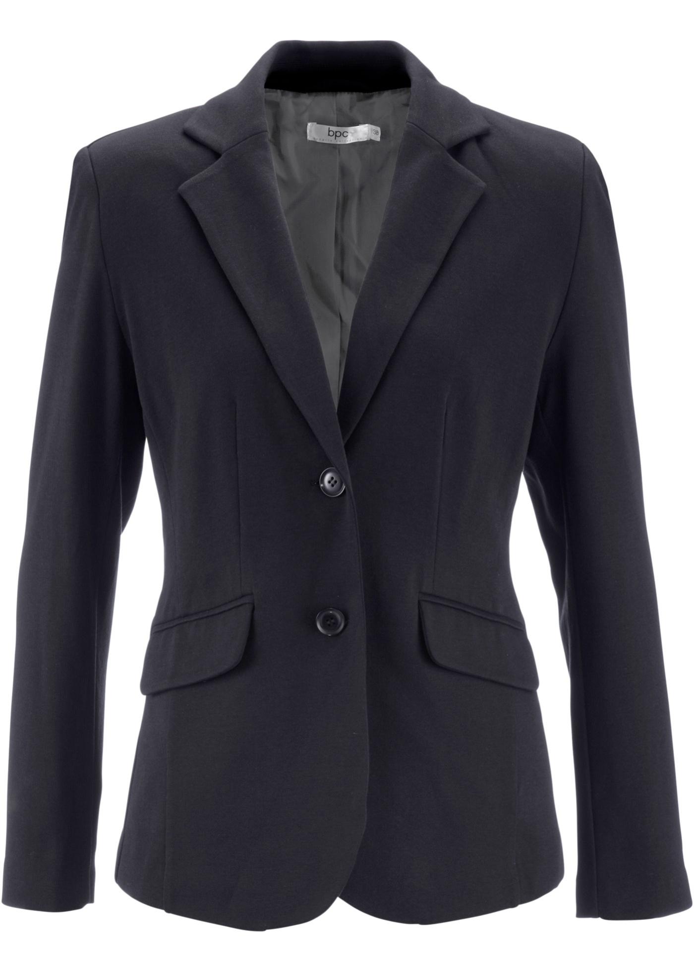 Image of Baumwoll Jersey-Blazer, tailliert