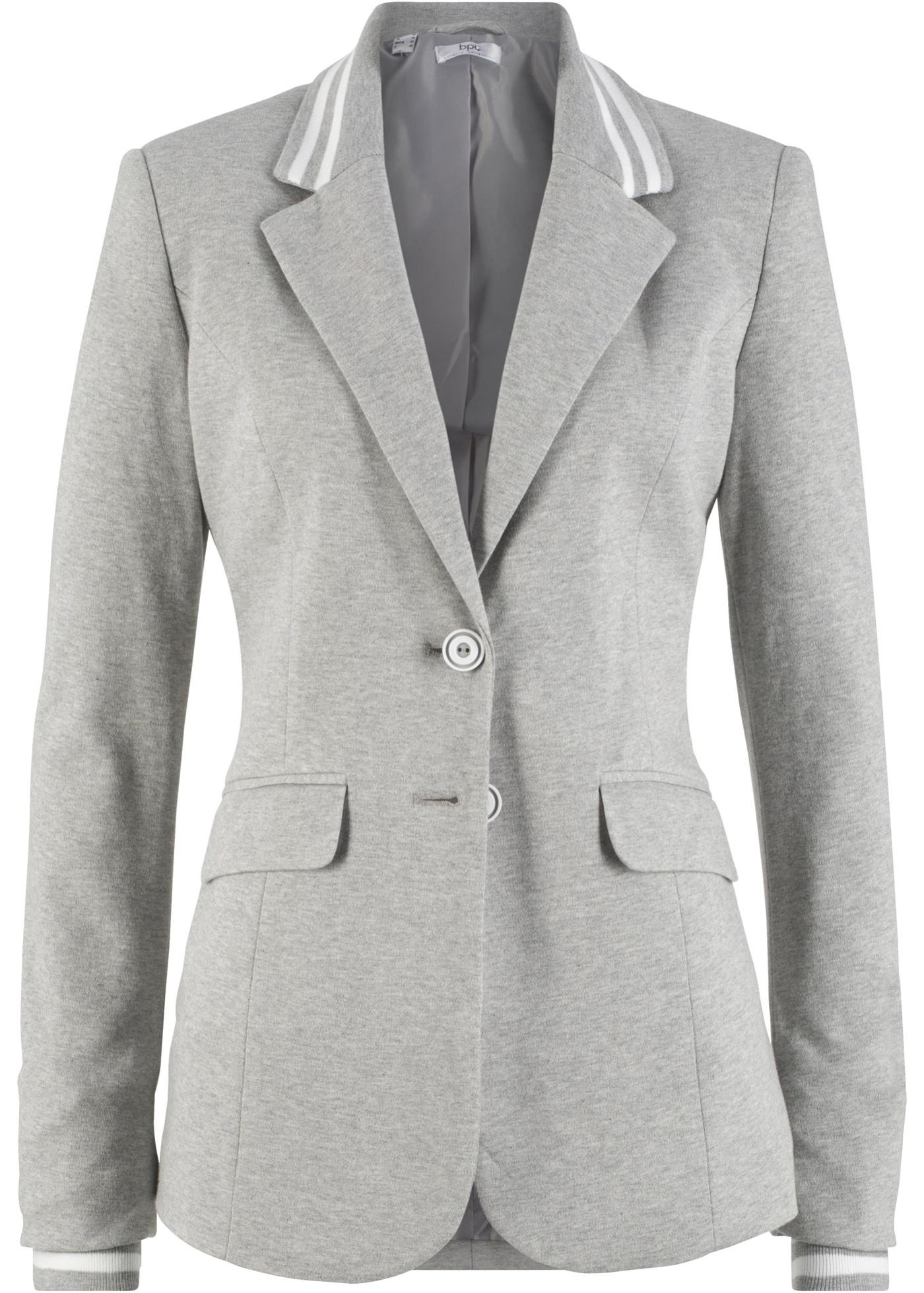 Image of Baumwoll Jersey-Blazer mit gestreiften Details