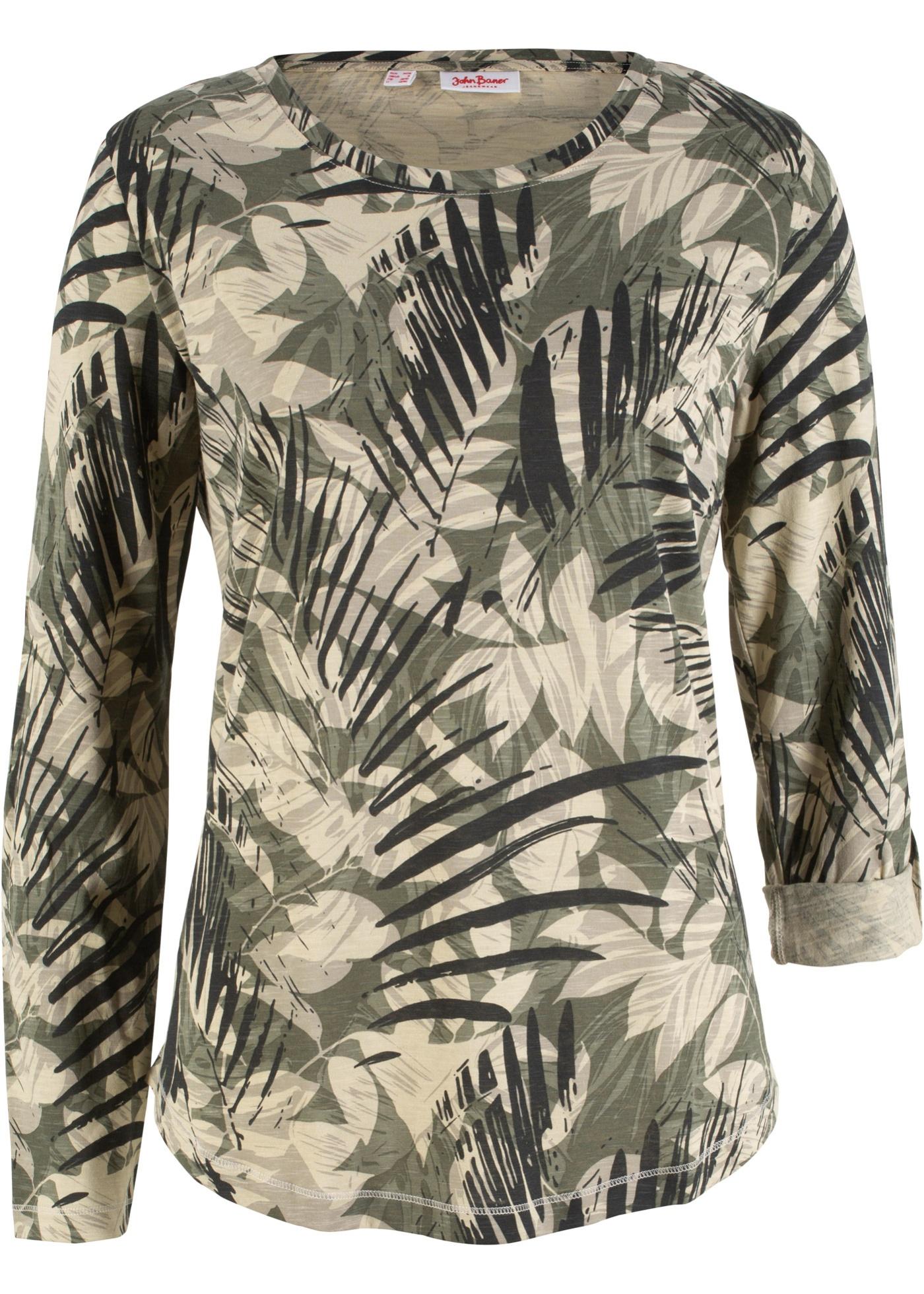 Image of Baumwoll Shirt, bedruckt, Langarm