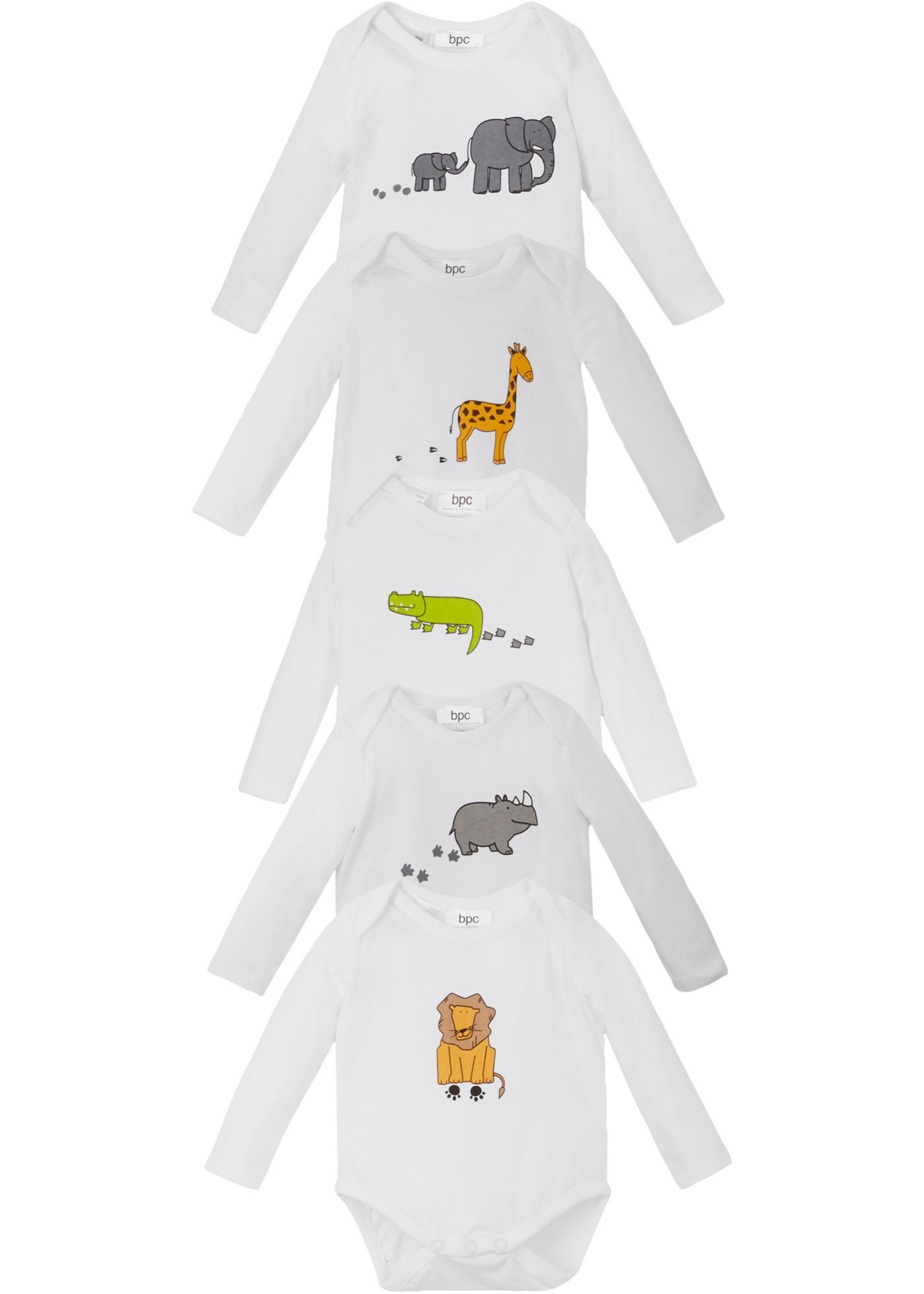 Image of Baby Langarmbody (5er-Pack) Bio-Baumwolle