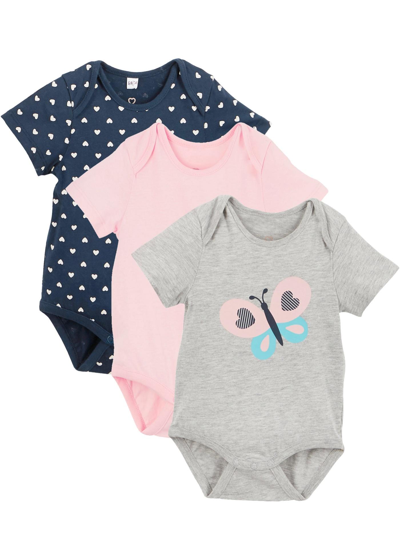 Image of Baby Kurzarmbody (3er-Pack) Bio-Baumwolle
