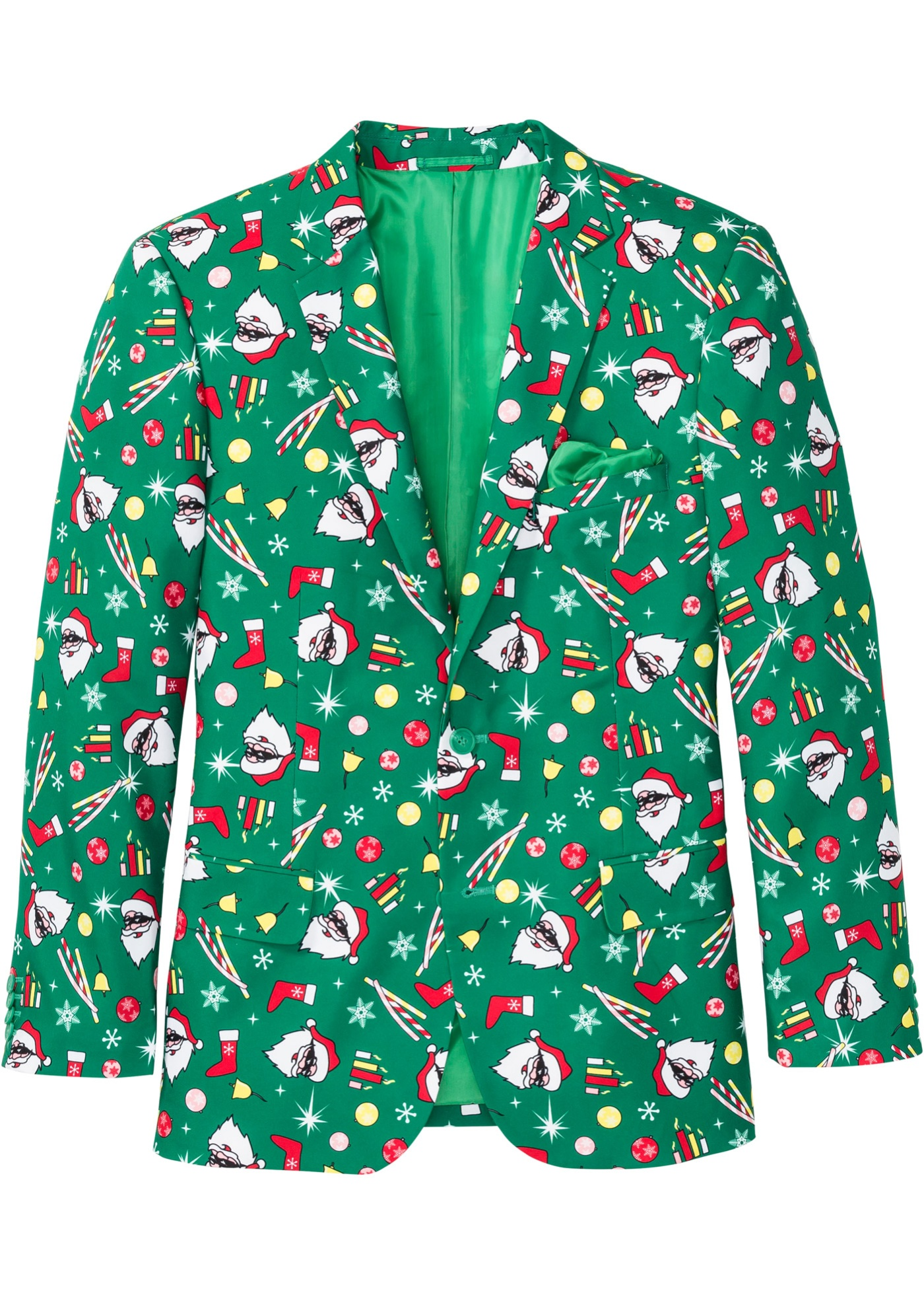 Image of Sakko mit Weihnachtsmotiv Slim Fit