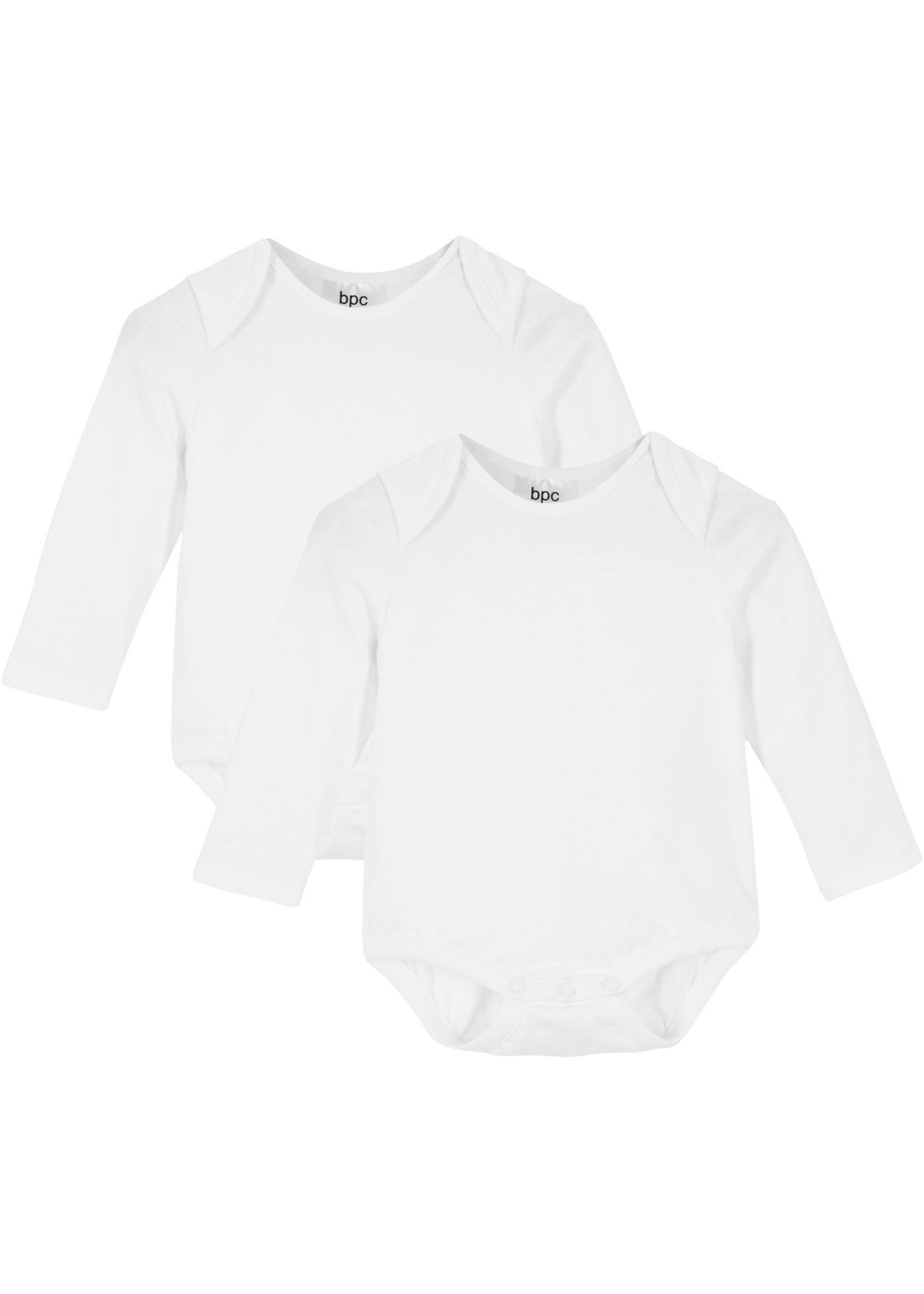 Image of Baby Langarmbody Längen verstellbar (2er-Pack) Bio-Baumwolle