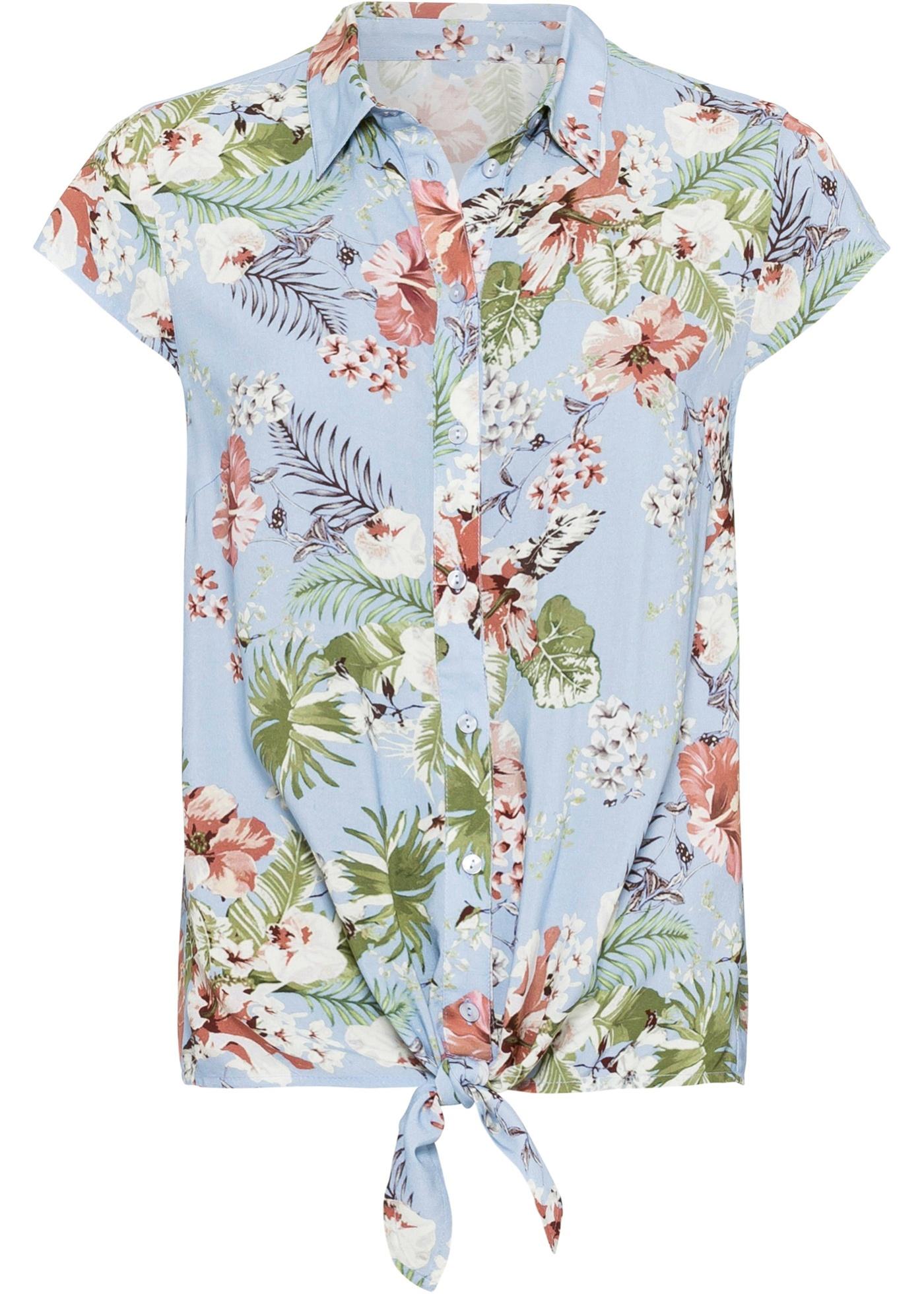Image of Bedruckte Bluse mit Knotendetail