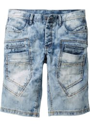 Jeans-Bermuda LOOSE, RAINBOW, medium blue bleached used
