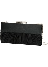 Clutch mit Raffung, bpc bonprix collection, schwarz