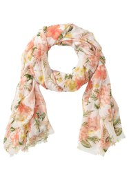 Schal Hibiskus, bpc bonprix collection, creme/aprikose
