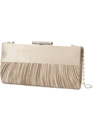Clutch mit Raffung, bpc bonprix collection, hellsand