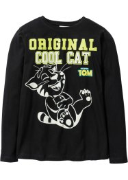 """TALKING TOM"" Langarmshirt Glow in the dark, Talking Tom and Friends, schwarz"