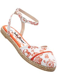 Espadrilles, bpc bonprix collection, blanc/nectarine