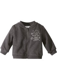 Gilet sweat bébé en coton bio, bpc bonprix collection