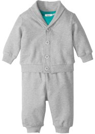 Veste sweat bébé + pantalon sweat + body (Ens. 3 pces.) coton bio, bpc bonprix collection