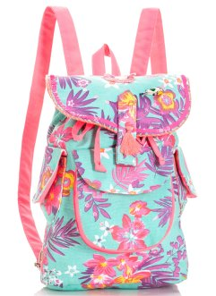 Kinder Rucksack Blumen, bpc bonprix collection, hellblau/bunt