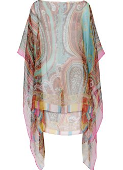 Sommerponcho Paisley, bpc bonprix collection, pink/multi