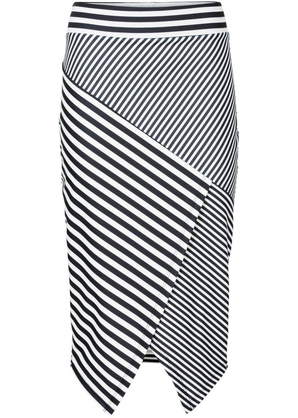 raffiniert gestreifter bleistiftrock mit asymmetrischem. Black Bedroom Furniture Sets. Home Design Ideas