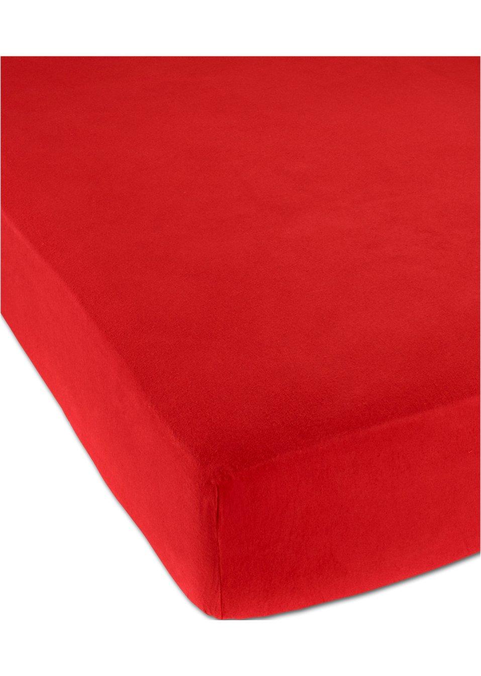 spannbettlaken biber f r kuschelige n chte rot o abb. Black Bedroom Furniture Sets. Home Design Ideas
