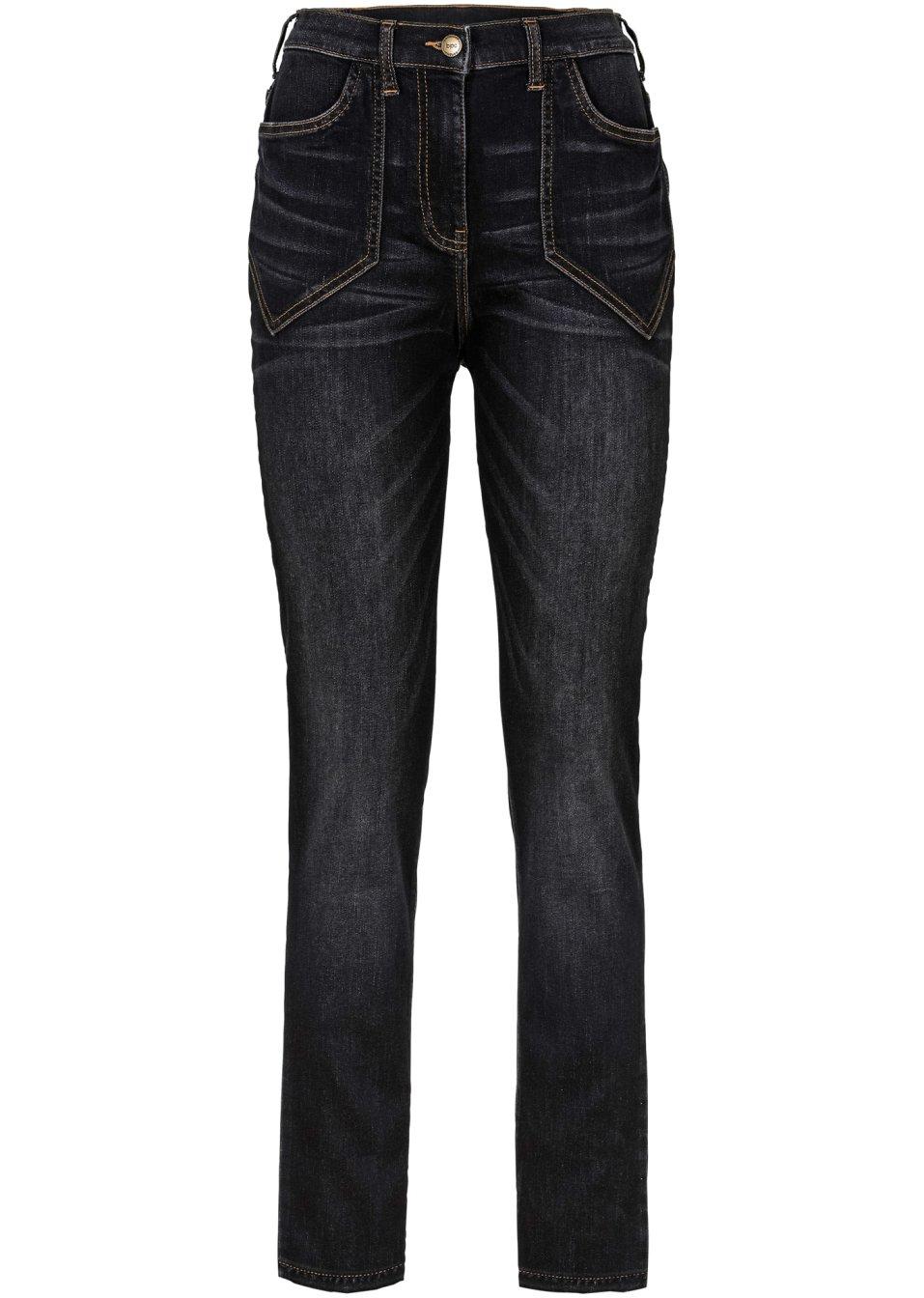 modische stretch jeans mit teilgummibund und hoher. Black Bedroom Furniture Sets. Home Design Ideas