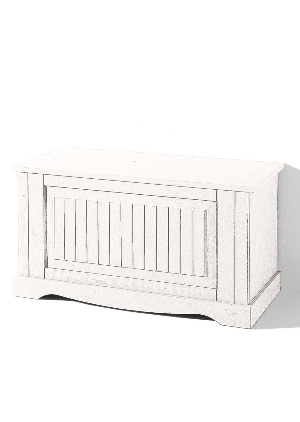 sitzbank roma viel platz f r decken und co weiss mit einer klappe. Black Bedroom Furniture Sets. Home Design Ideas