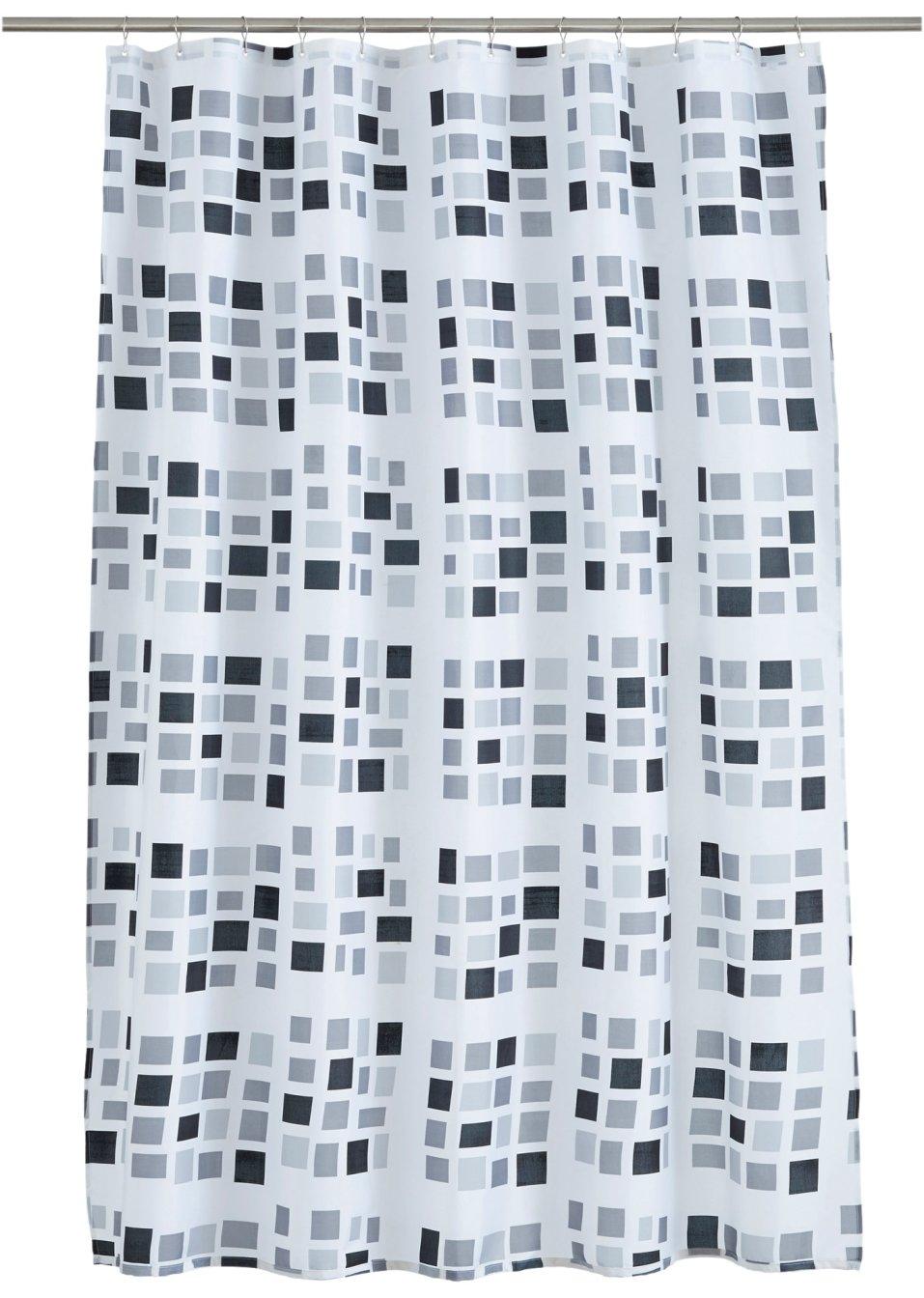 duschvorhang stones schwarz weiss online bestellen. Black Bedroom Furniture Sets. Home Design Ideas