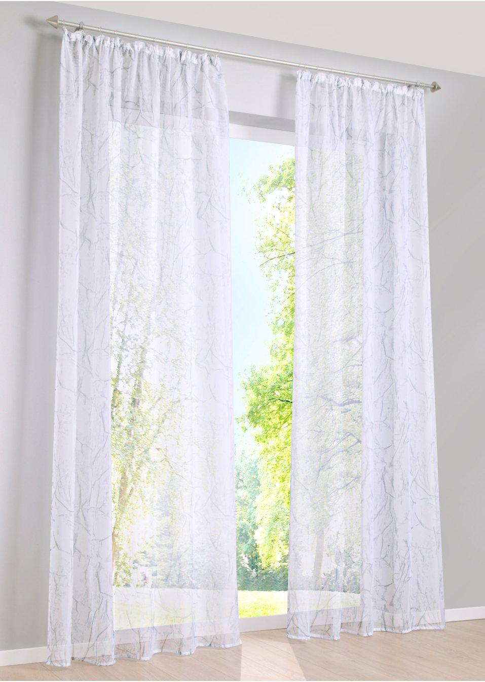 gardine bjarne 1er pack weiss wohnen bpc living. Black Bedroom Furniture Sets. Home Design Ideas