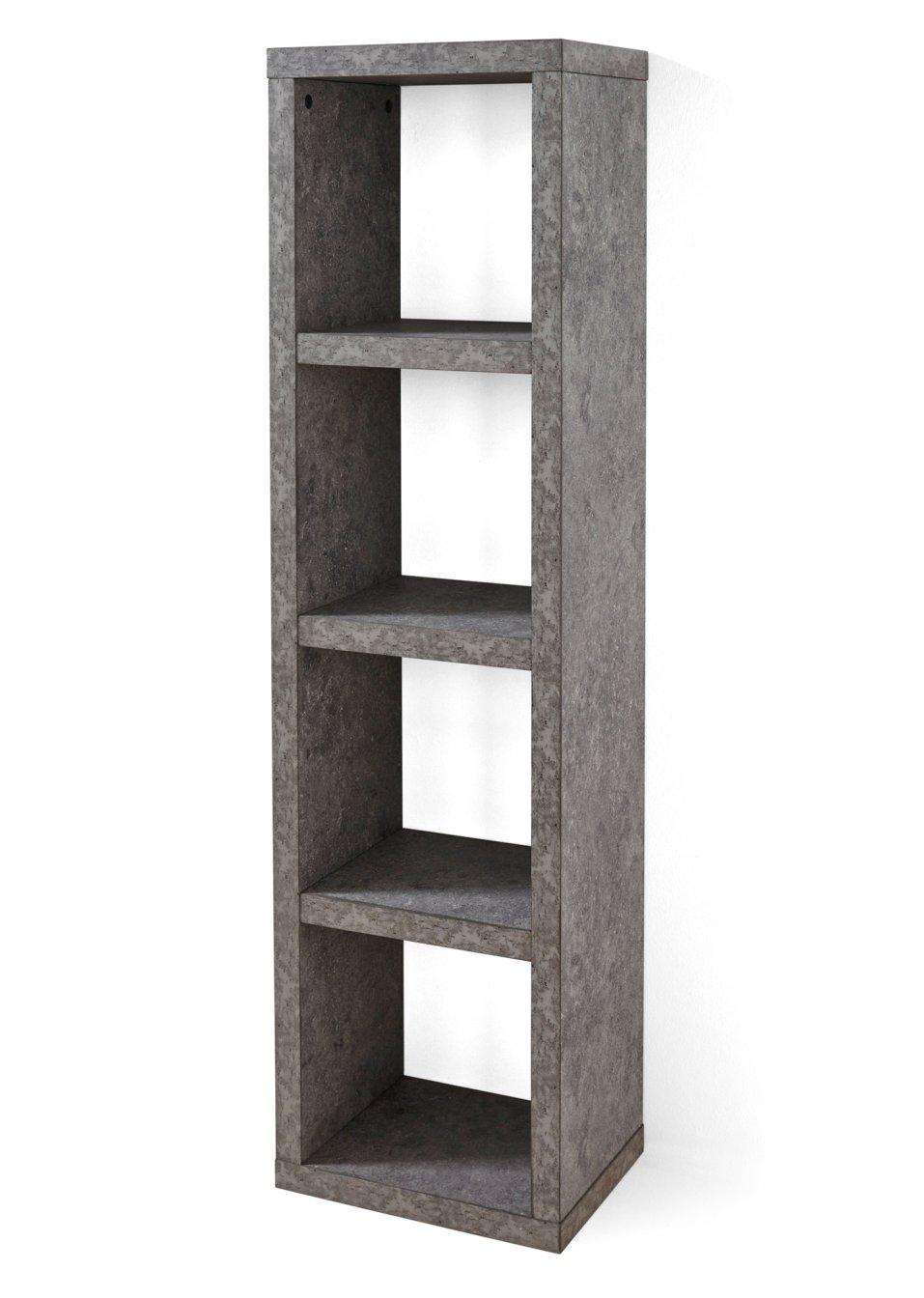 allesk nner in w rfelform regal kenia 4 f cher beton mit 4 f chern. Black Bedroom Furniture Sets. Home Design Ideas