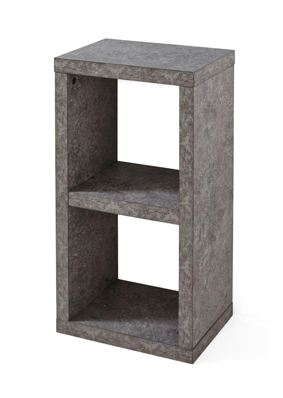 allesk nner in w rfelform regal kenia 2 f cher beton mit 2 f chern. Black Bedroom Furniture Sets. Home Design Ideas