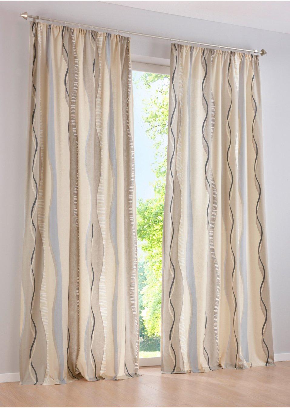 Vorhang timba 1er pack sand bpc living online kaufen for Bonprix vorhang