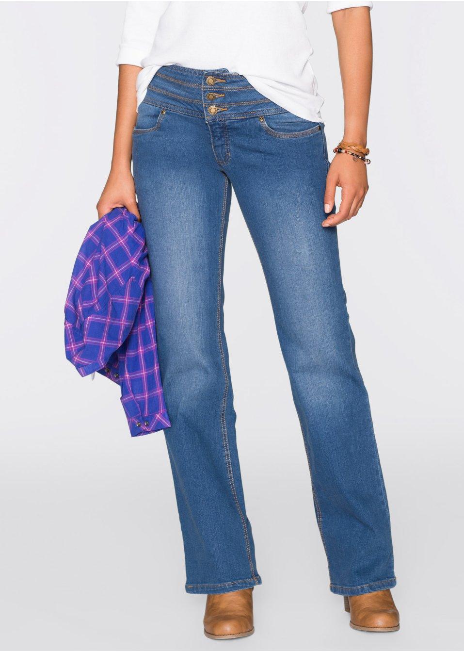 tolle stretch jeans mit bauch weg effekt hellblau lang. Black Bedroom Furniture Sets. Home Design Ideas