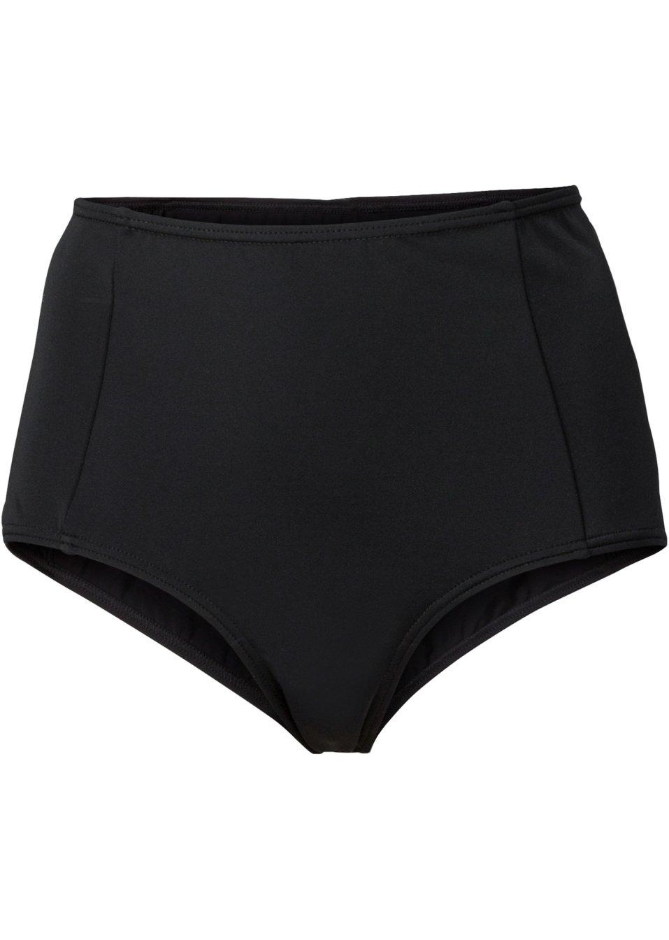 hoch geschnittene bikinihose mit ziern hten schwarz. Black Bedroom Furniture Sets. Home Design Ideas
