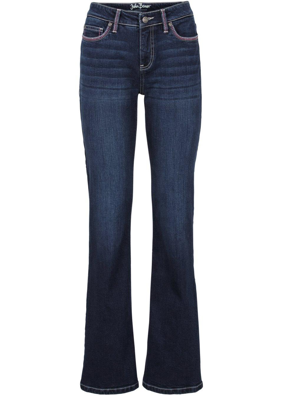 sportliche jeans mit stretch anteil dunkelblau normal. Black Bedroom Furniture Sets. Home Design Ideas