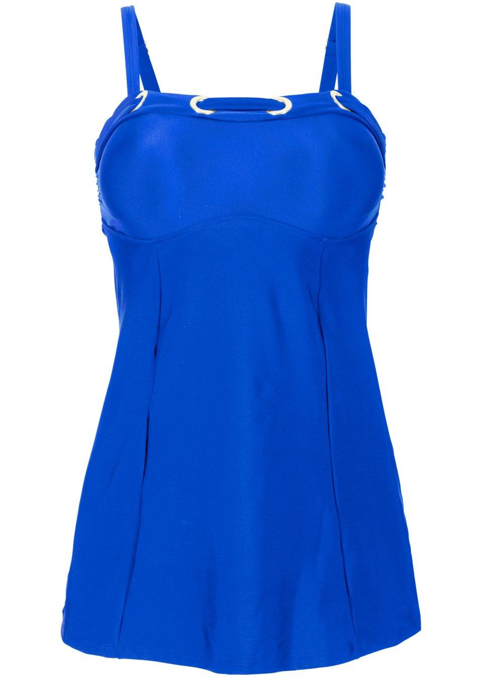 attraktiver tankini in langer schnittform blau. Black Bedroom Furniture Sets. Home Design Ideas