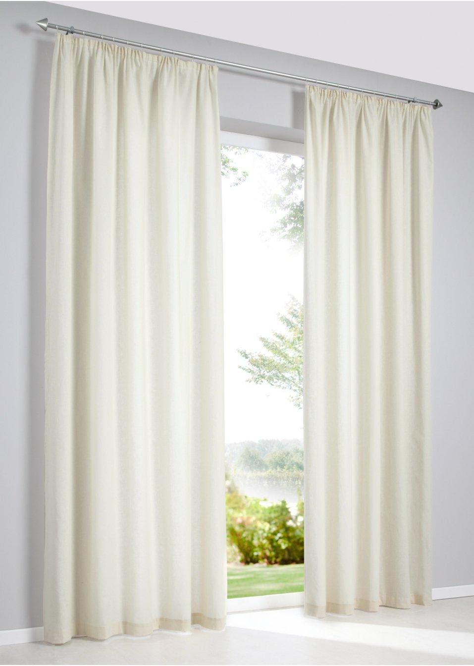 vorhang linon 1er pack creme bpc living online bestellen. Black Bedroom Furniture Sets. Home Design Ideas
