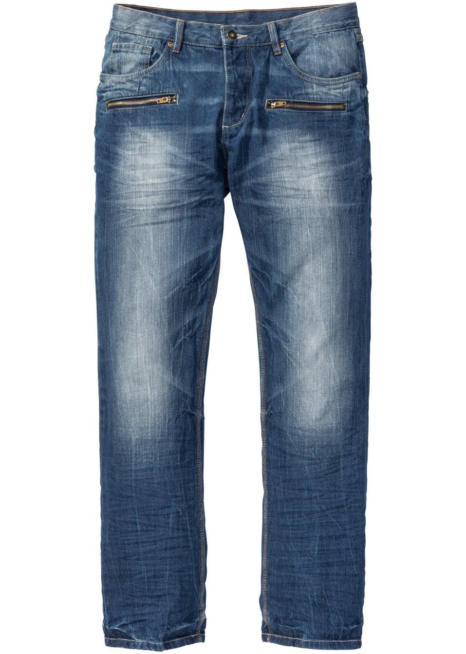 trendstarke jeans mit rei verschlusstaschen und. Black Bedroom Furniture Sets. Home Design Ideas