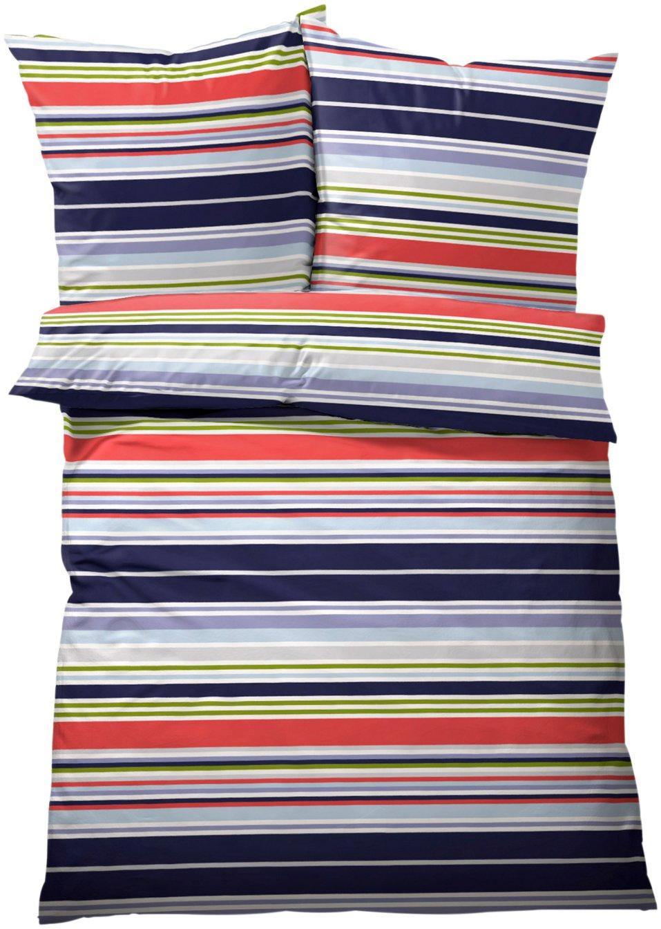 farbenfrohes wohnaccessoire die bettw sche filip blau rot linon. Black Bedroom Furniture Sets. Home Design Ideas